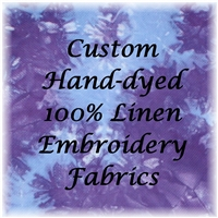 Custom Colored Fabrics - 100% Linen Evenweaves