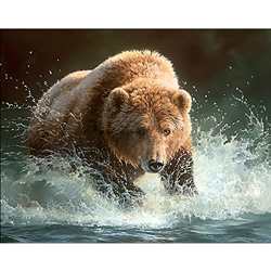 D'Art Diamond Embroidery - Bear Fishing