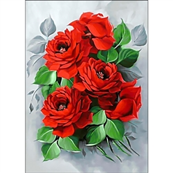 D'Art Diamond Embroidery - Elegant Roses