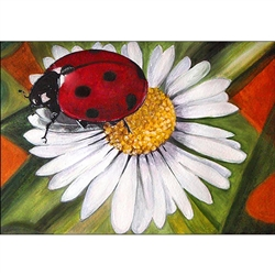 D'Art Diamond Embroidery - Chamomile & Ladybug