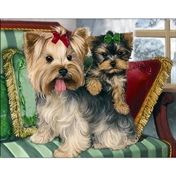 D'Art Diamond Embroidery - Yorkshire Terriers