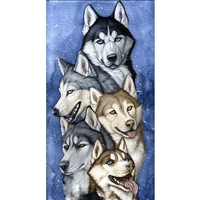 D'Art Diamond Embroidery - Team Of Huskies