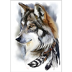 D'Art Diamond Embroidery - Wolf Spirit