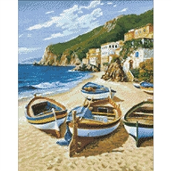 D'Art Diamond Embroidery - Fishing Boats