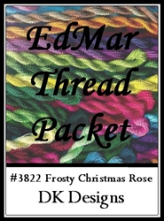 Frosty Christmas Rose - EdMar Thread Packet #3822