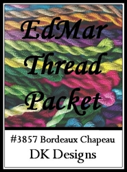 Bordeaux Chapeau - EdMar Thread Packet #3857