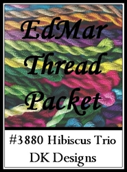Hibiscus Trio - EdMar Thread Packet #3880