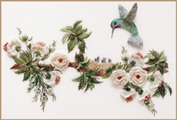 English Rose & Hummingbirds - Edmar kit #1606