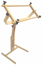 "Frank A Edmunds Stitchers Wonder! Adjustable Craft Stand with 8. 5"" x 24"" Split Rail Scroll Frame"