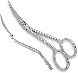 "Famore 4"" Mini Double Curved Machine Emb Scissors"