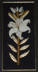 Alison Cole Embroidery -Gilded Lily