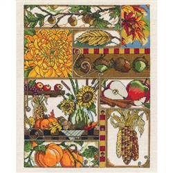 Janlynn Counted Cross Stitch, Autumn Montage