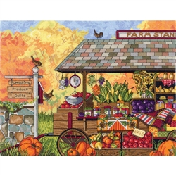 Janlynn Counted Cross Stitch, Buck's County Farm Stand