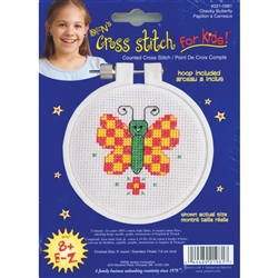 Janlynn Counted Cross Stitch, Checky Butterfly