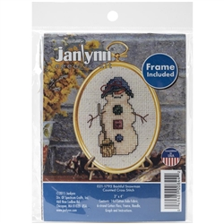 Janlynn Counted Cross Stitch, Bashful Snowman