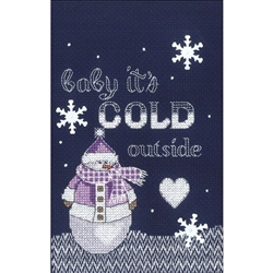 Janlynn Counted Cross Stitch, Cold Outside