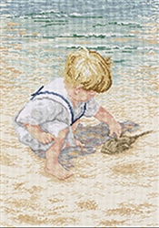 Janlynn Counted Cross Stitch, Boy With Horseshoe Crab