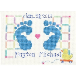 Janlynn Counted Cross Stitch, Baby Feet