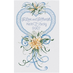 Janlynn Counted Cross Stitch, Cherish Wedding Heart
