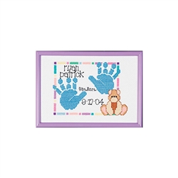 Janlynn Counted Cross Stitch, Baby Handprints
