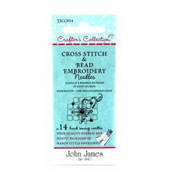 John James Crafters Collection Cross Stitch & Bead Embroidery Assortment