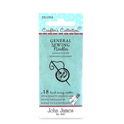 John James Crafters Collection General Sewing 3/7 18ct Needle Pk