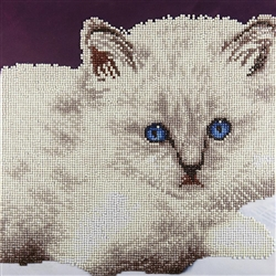 Diamond Art - White Cat
