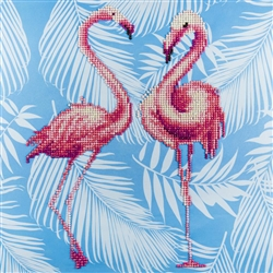 Diamond Art - Flamingo Duo