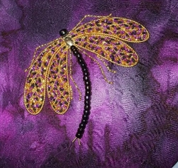 Alison Cole Embroidery -Lola Dragonfly
