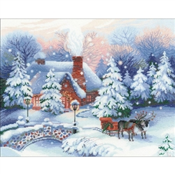 RIOLIS Counted Cross Stitch Kit, Christmas Eve