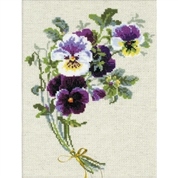 RIOLIS Counted Cross Stitch Kit, Bunch Of Pansies