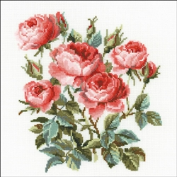 RIOLIS Counted Cross Stitch Kit, Garden Roses
