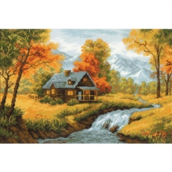 RIOLIS Counted Cross Stitch Kit, Autumn View
