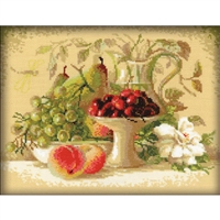 RIOLIS Counted Cross Stitch Kit, Still Life W/Sweet Cherries