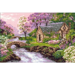 RIOLIS Counted Cross Stitch Kit, Spring View