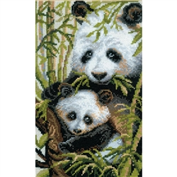 RIOLIS Counted Cross Stitch Kit, Panda With Young