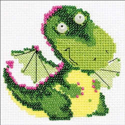 RIOLIS Counted Cross Stitch Kit, Little Dragon