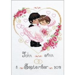 RIOLIS Counted Cross Stitch Kit, Wedding Metric