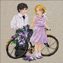 RIOLIS Counted Cross Stitch Kit, Spring Walk