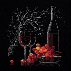 RIOLIS Counted Cross Stitch Kit, Still Life With Red Wine