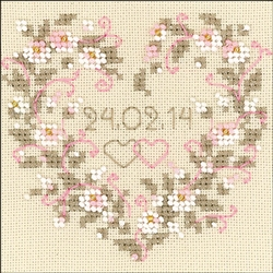 RIOLIS Counted Cross Stitch Kit, All Heart