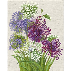 RIOLIS Counted Cross Stitch Kit, Allium