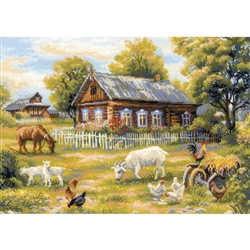 RIOLIS Counted Cross Stitch Kit, Afternoon In The Country