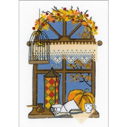 RIOLIS Counted Cross Stitch Kit, Autumn Window