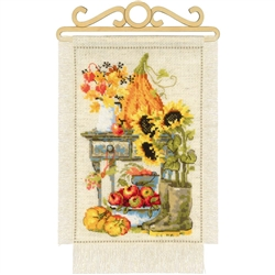 RIOLIS Counted Cross Stitch Kit, Autumn Cottage