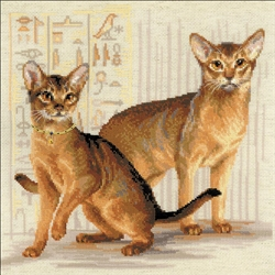RIOLIS Counted Cross Stitch Kit, Abyssinian Cats