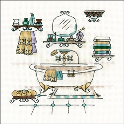 RIOLIS Counted Cross Stitch Kit, Bathroom Interior