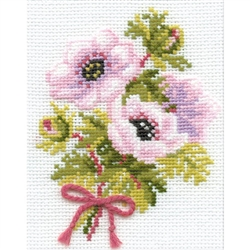 RIOLIS Counted Cross Stitch Kit, Anemones