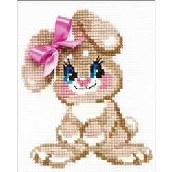 RIOLIS Counted Cross Stitch Kit, Baby Rabbit