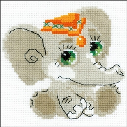 RIOLIS Counted Cross Stitch Kit, Baby Elephant